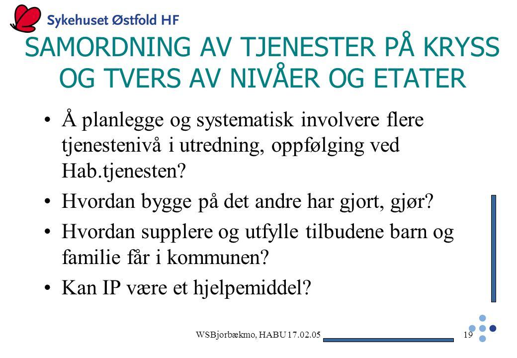 SAMORDNING AV TJENESTER PÅ KRYSS OG TVERS AV NIVÅER OG ETATER