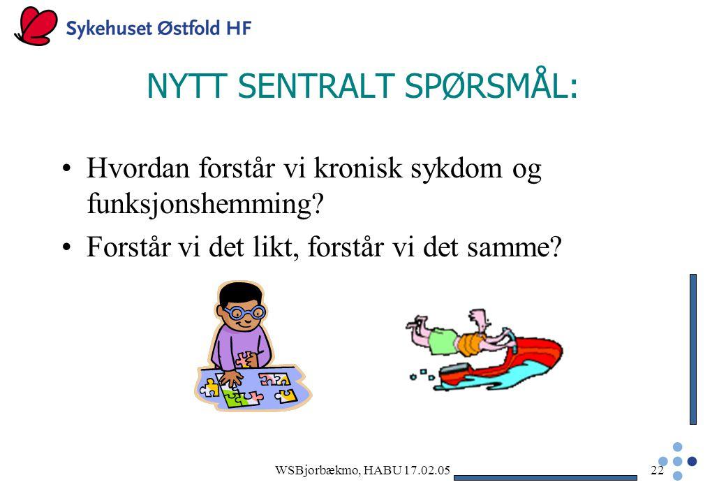 NYTT SENTRALT SPØRSMÅL: