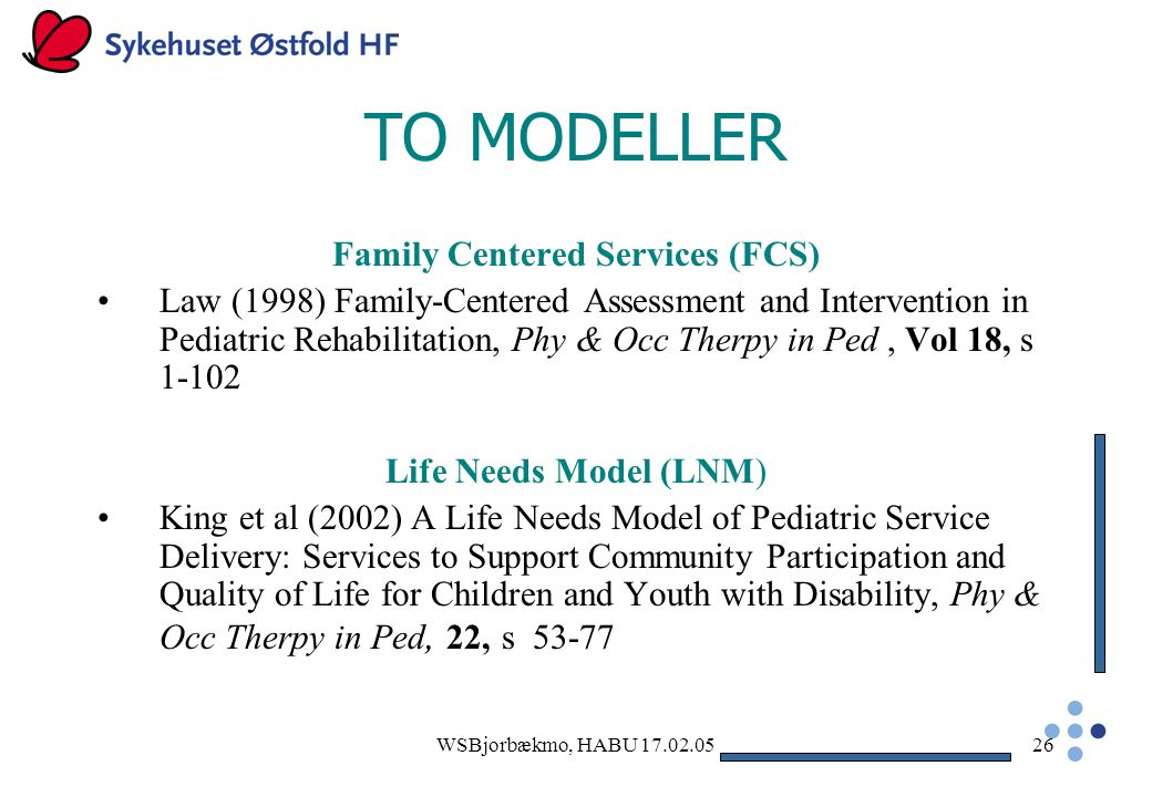 Family Centered Services (FCS)