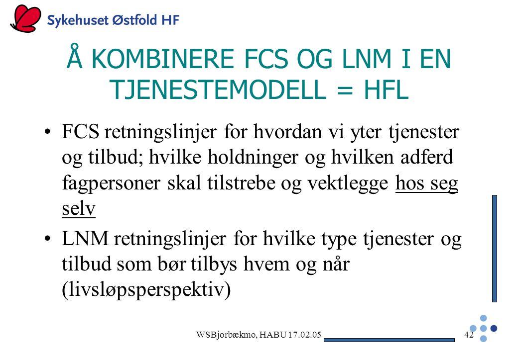 Å KOMBINERE FCS OG LNM I EN TJENESTEMODELL = HFL
