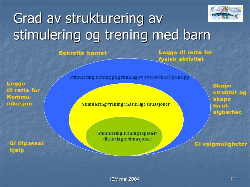 Grad av strukturering av stimulering og trening med barn