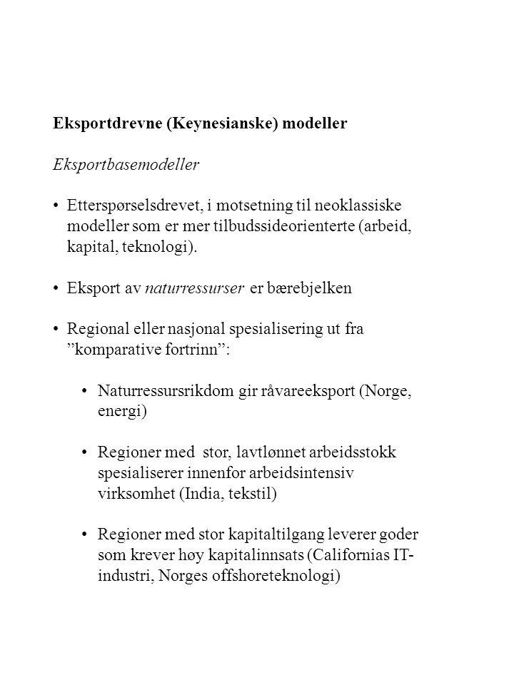 Eksportdrevne (Keynesianske) modeller