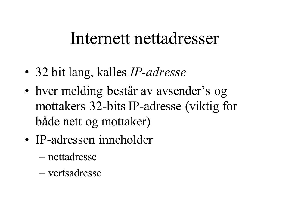Internett nettadresser