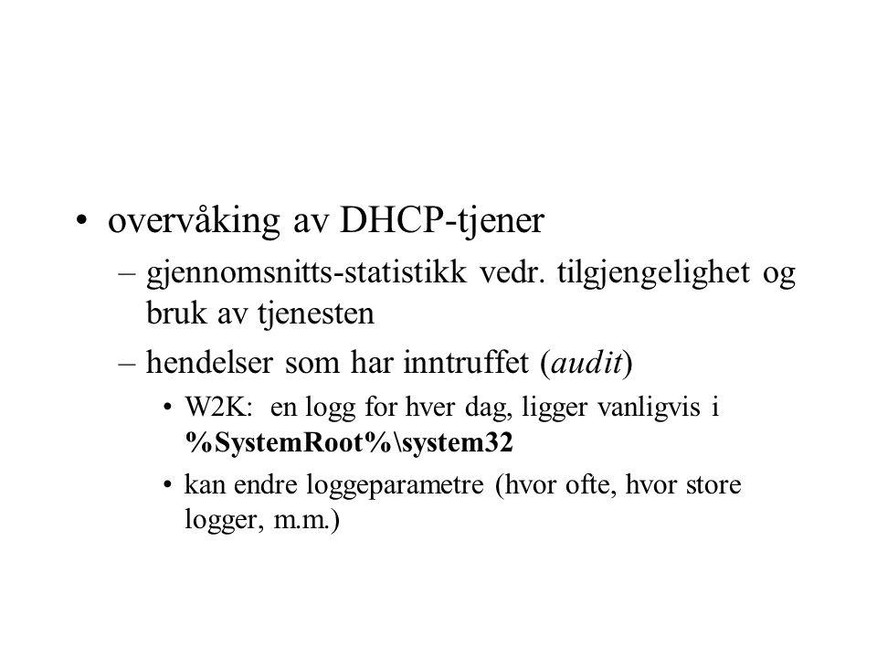 overvåking av DHCP-tjener