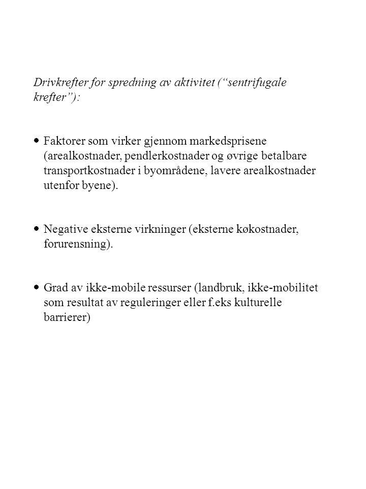 Drivkrefter for spredning av aktivitet ( sentrifugale