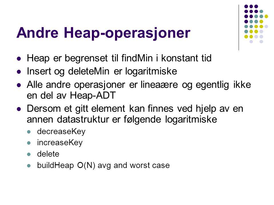 Andre Heap-operasjoner