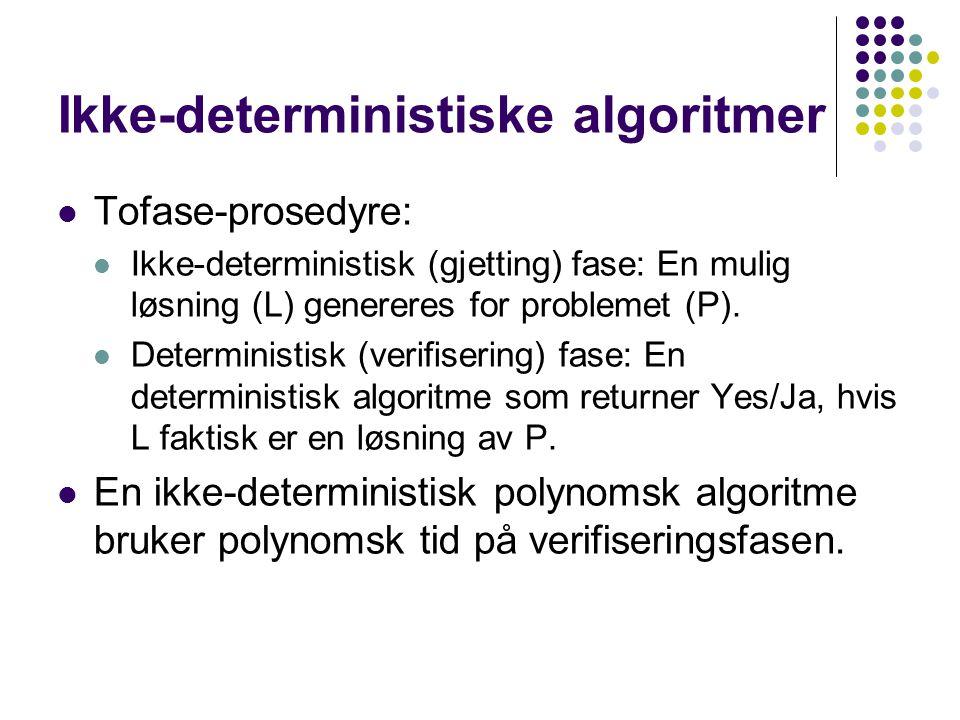 Ikke-deterministiske algoritmer