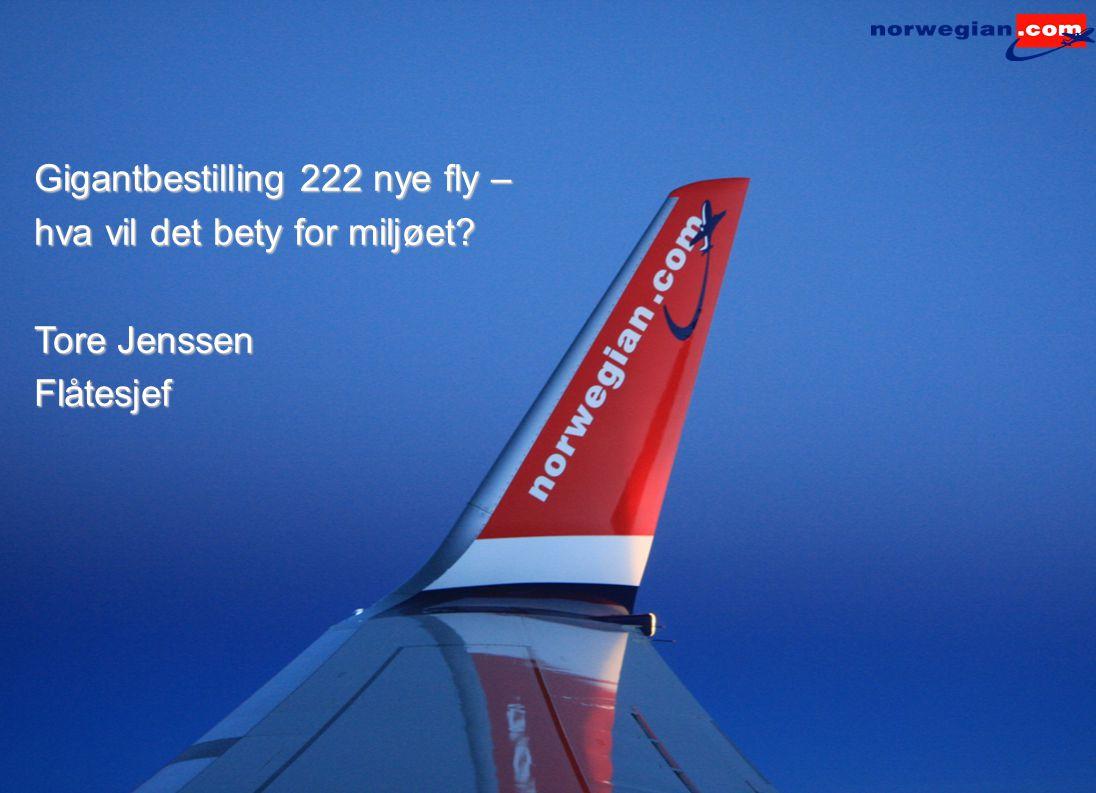 Gigantbestilling 222 nye fly –