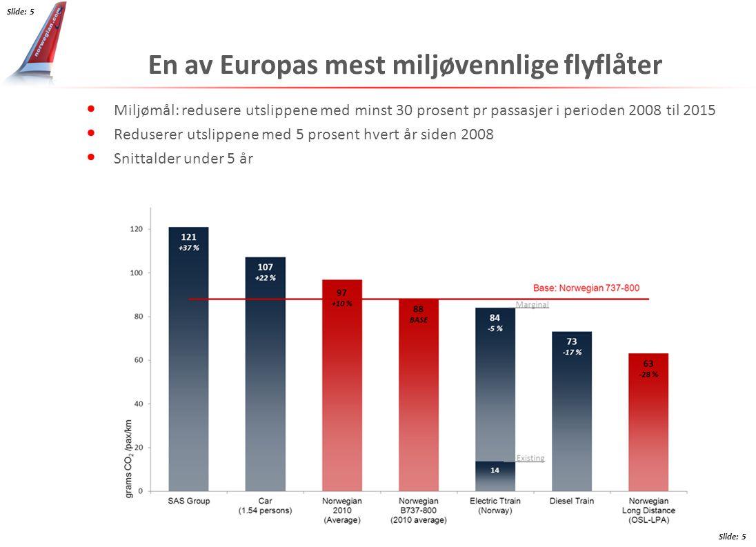 En av Europas mest miljøvennlige flyflåter