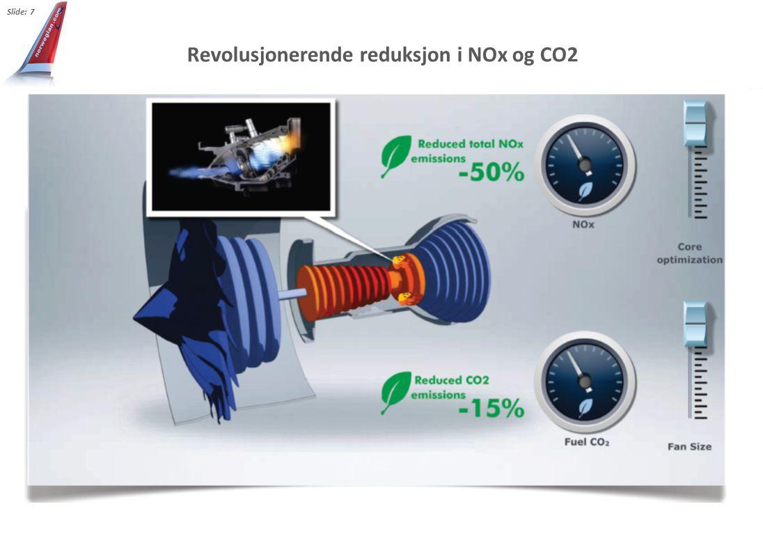 Revolusjonerende reduksjon i NOx og CO2