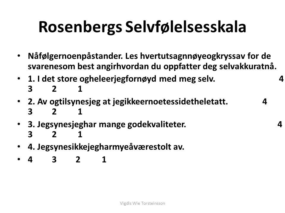Rosenbergs Selvfølelsesskala