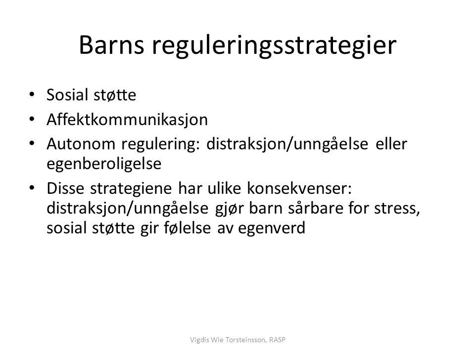 Barns reguleringsstrategier