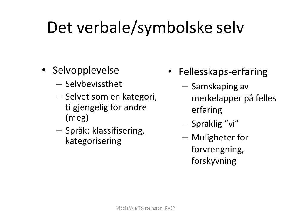 Det verbale/symbolske selv