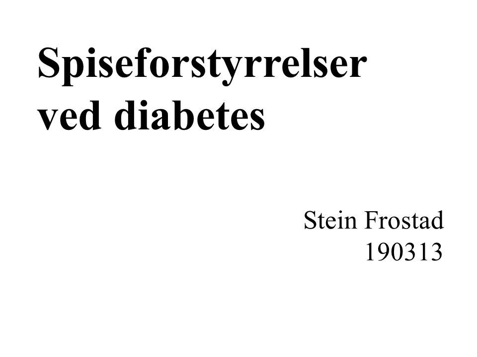 Spiseforstyrrelser ved diabetes