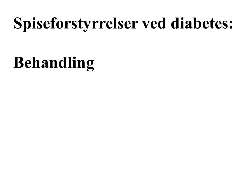 Spiseforstyrrelser ved diabetes: