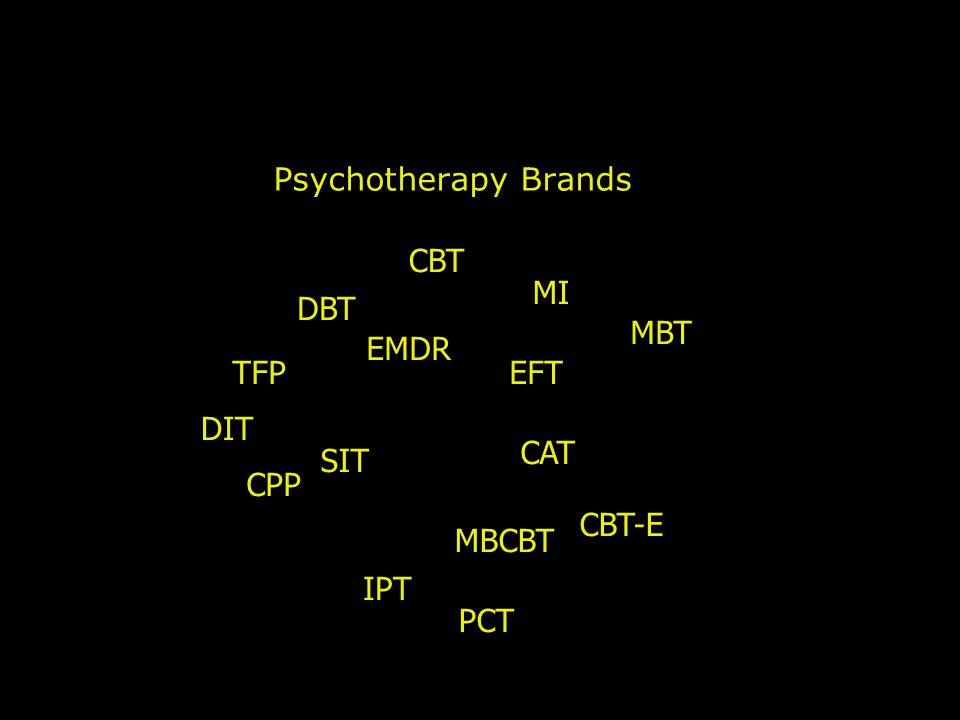 Psychotherapy Brands CBT MI DBT MBT EMDR TFP EFT DIT CAT SIT CPP CBT-E