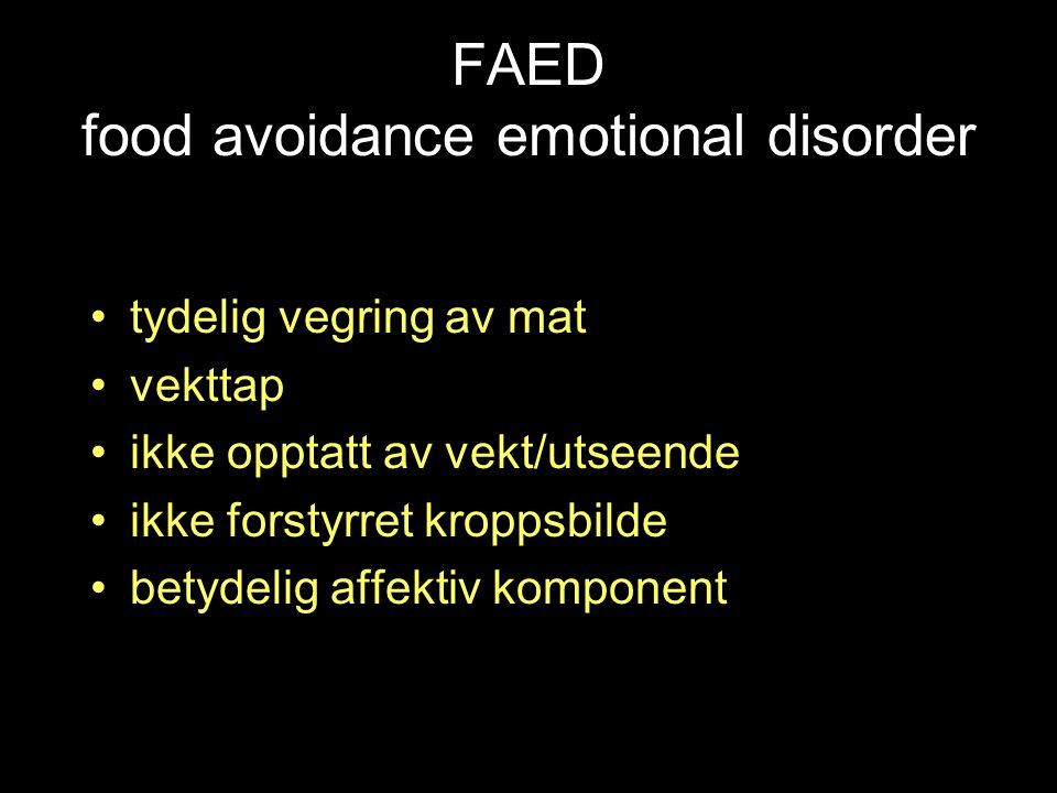FAED food avoidance emotional disorder