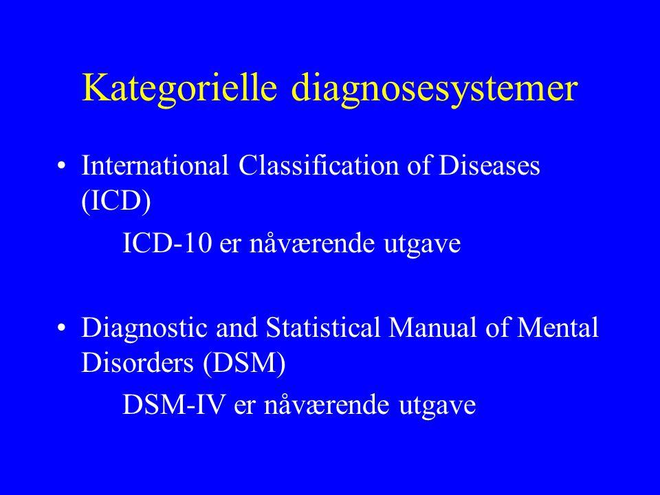 Kategorielle diagnosesystemer
