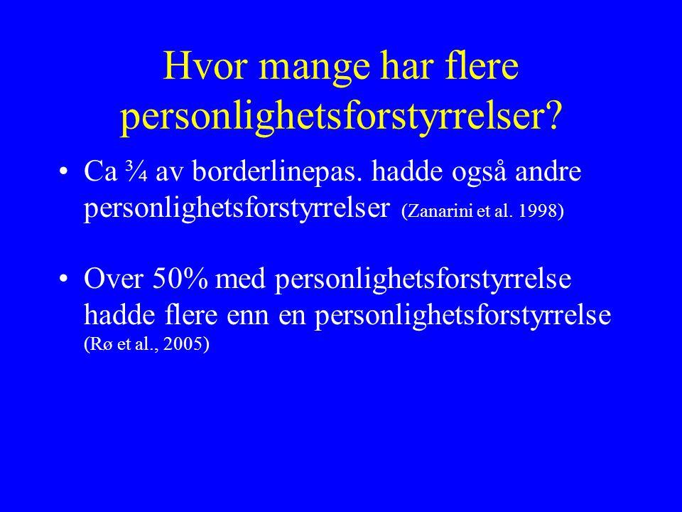 Hvor mange har flere personlighetsforstyrrelser
