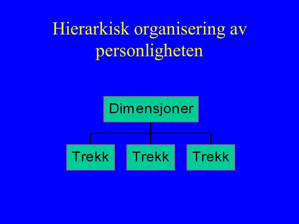 Hierarkisk organisering av personligheten