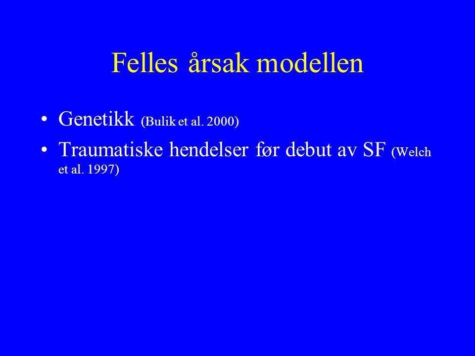 Felles årsak modellen Genetikk (Bulik et al. 2000)