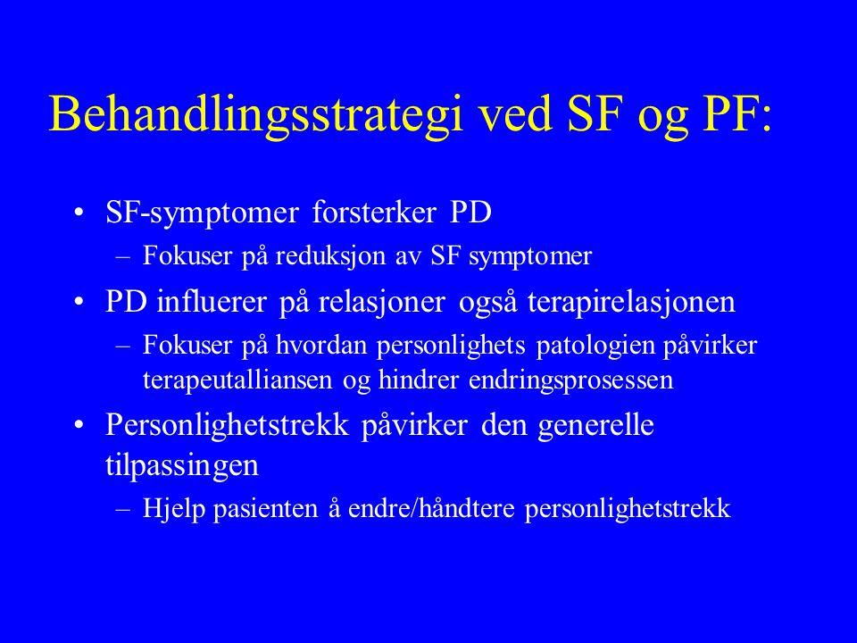Behandlingsstrategi ved SF og PF: