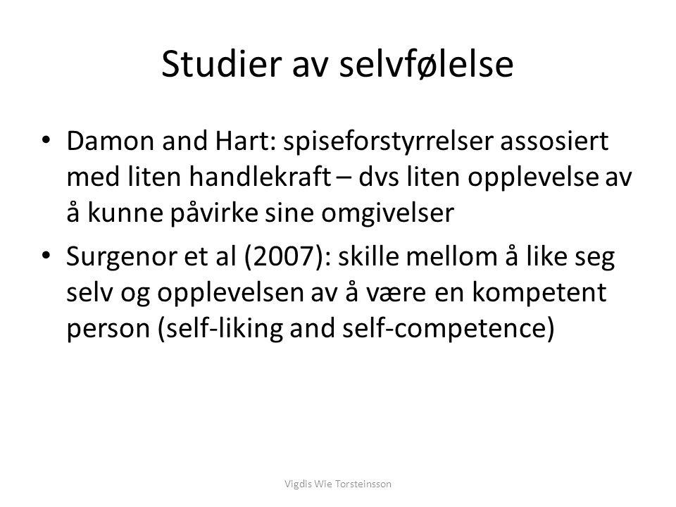 Studier av selvfølelse