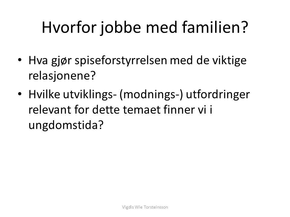 Hvorfor jobbe med familien
