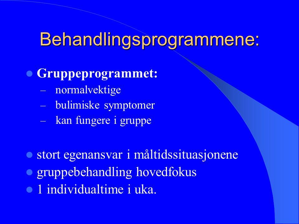 Behandlingsprogrammene: