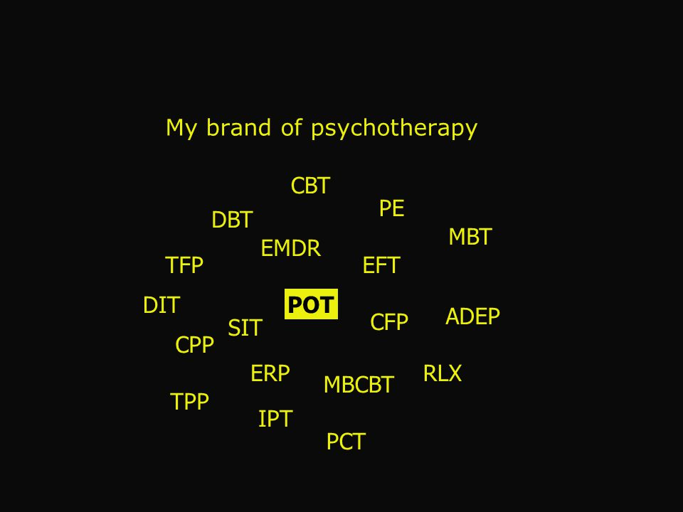 My brand of psychotherapy