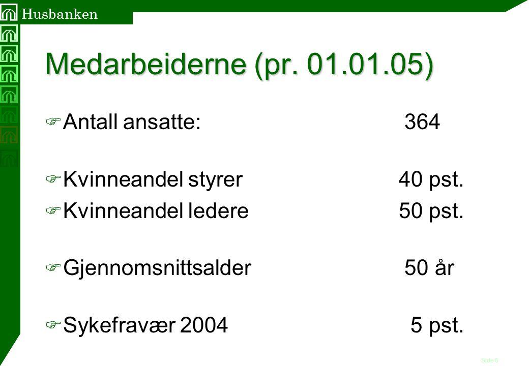 Medarbeiderne (pr. 01.01.05) Antall ansatte: 364