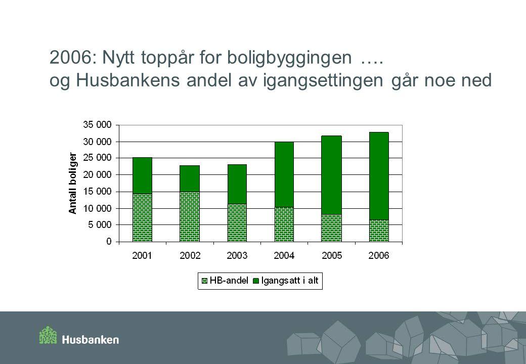 2006: Nytt toppår for boligbyggingen …