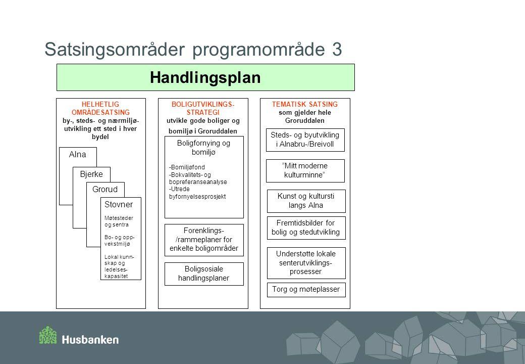 Satsingsområder programområde 3