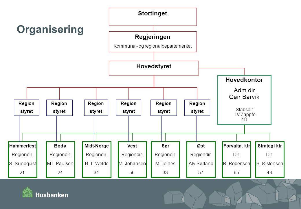 Organisering Stortinget Regjeringen Hovedstyret Hovedkontor