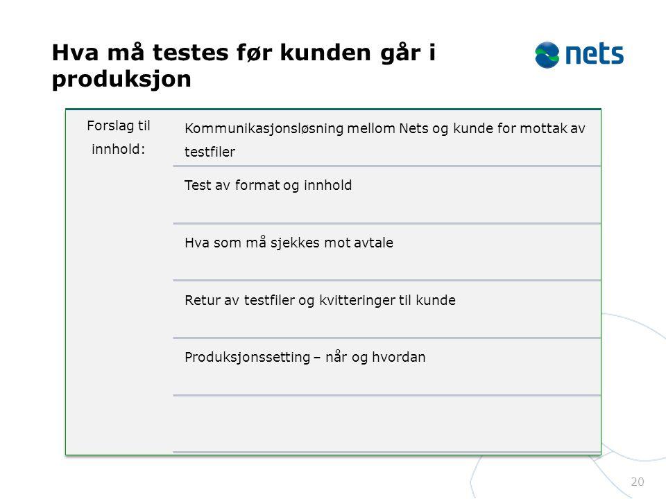 Hva må testes før kunden går i produksjon