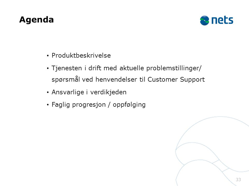 Agenda Produktbeskrivelse