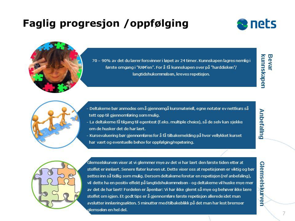 Faglig progresjon /oppfølging