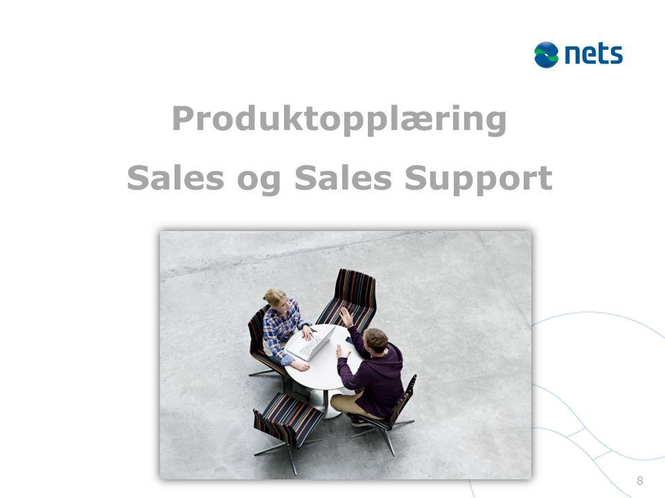 Produktopplæring Sales og Sales Support