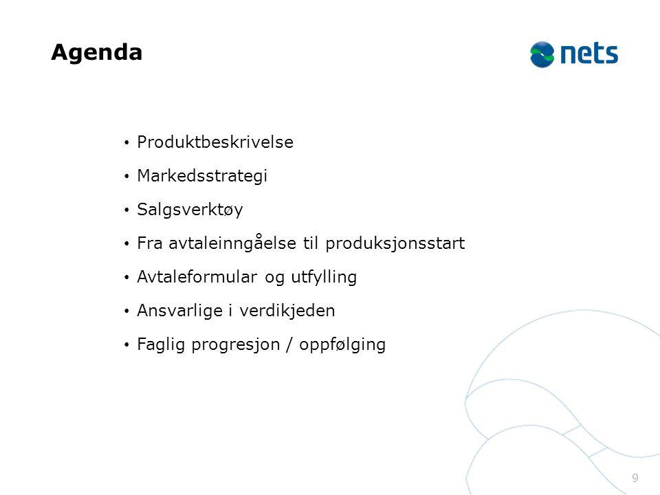 Agenda Produktbeskrivelse Markedsstrategi Salgsverktøy