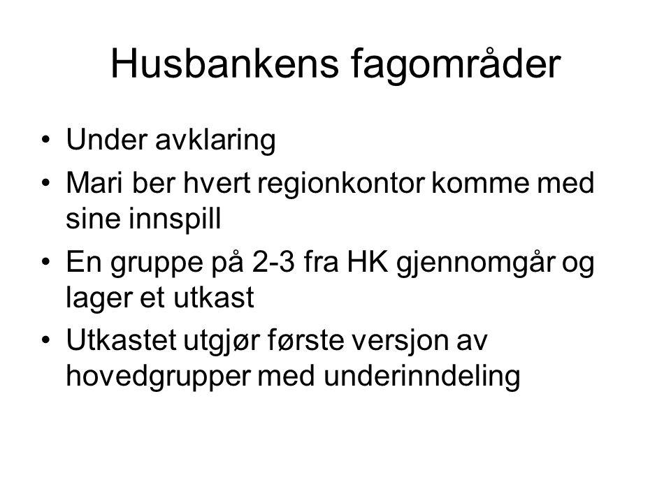 Husbankens fagområder