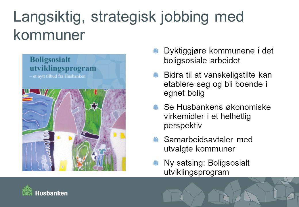 Langsiktig, strategisk jobbing med kommuner