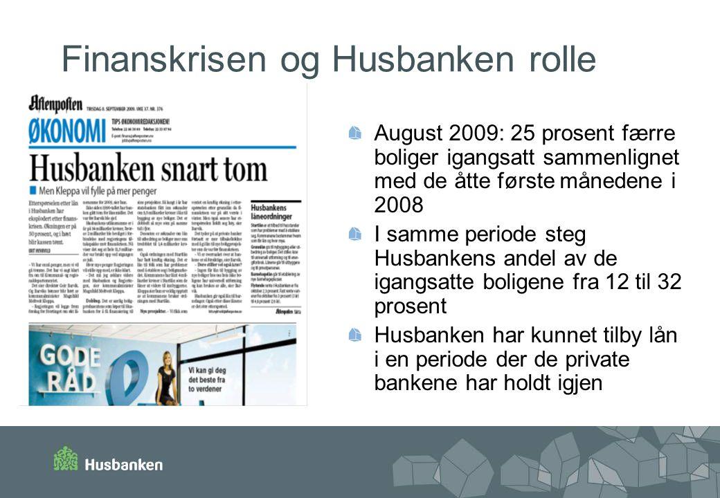 Finanskrisen og Husbanken rolle