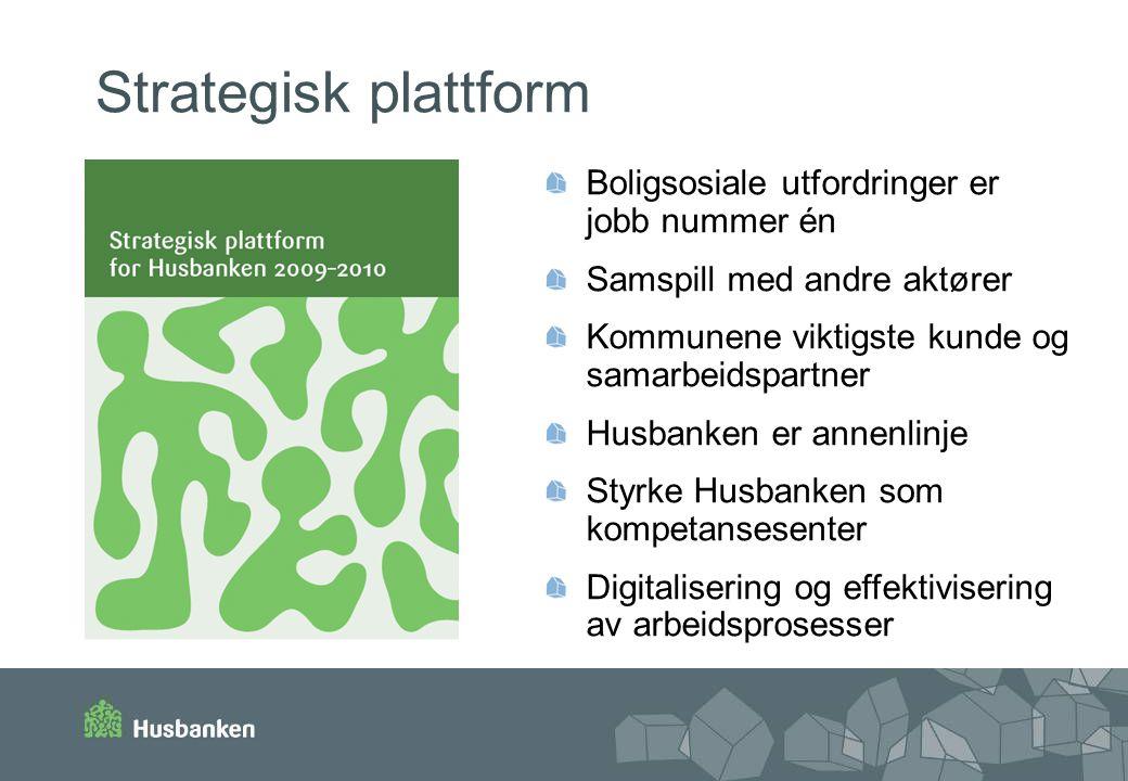 Strategisk plattform Boligsosiale utfordringer er jobb nummer én