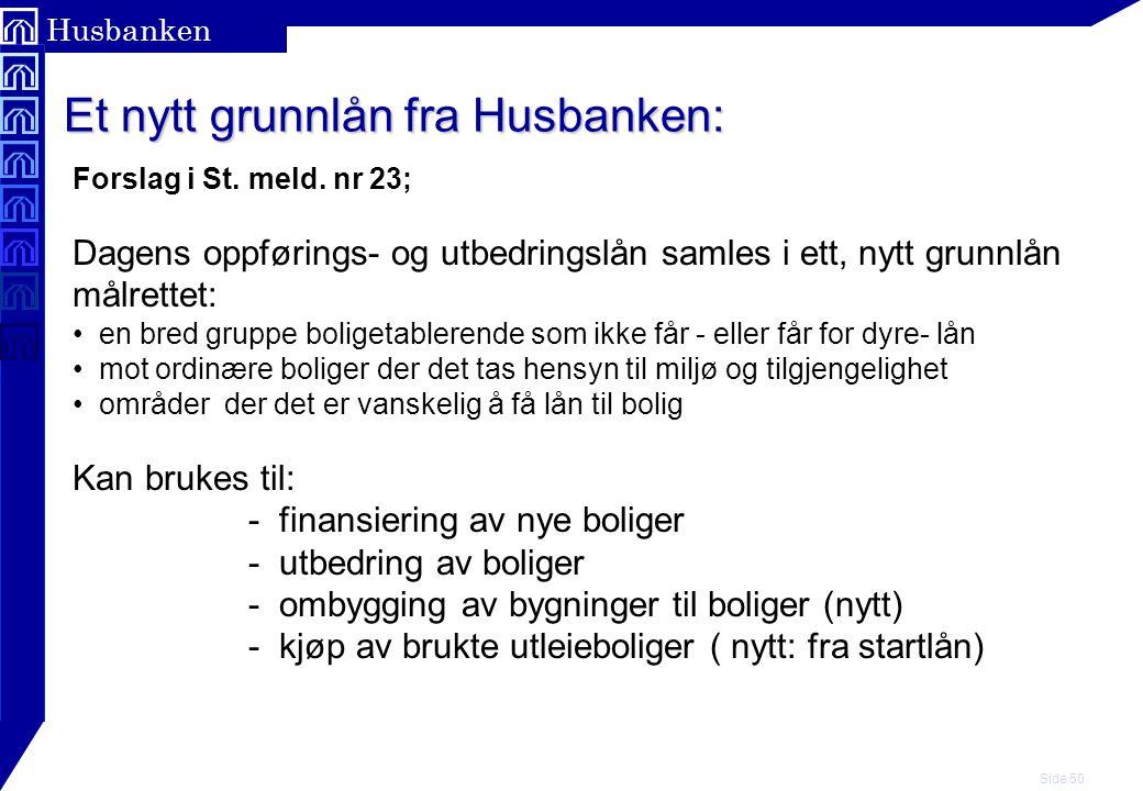 Et nytt grunnlån fra Husbanken:
