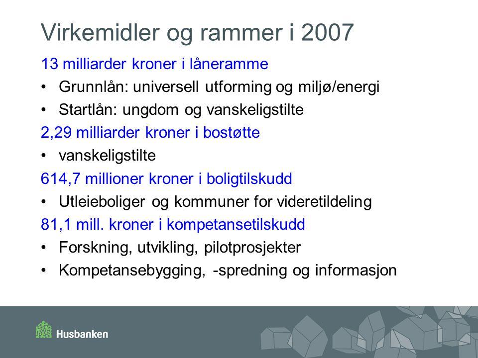 Virkemidler og rammer i 2007