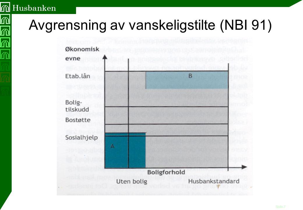 Avgrensning av vanskeligstilte (NBI 91)