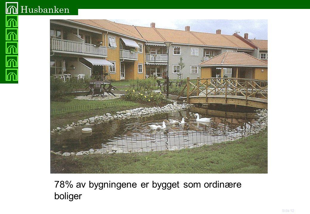 78% av bygningene er bygget som ordinære