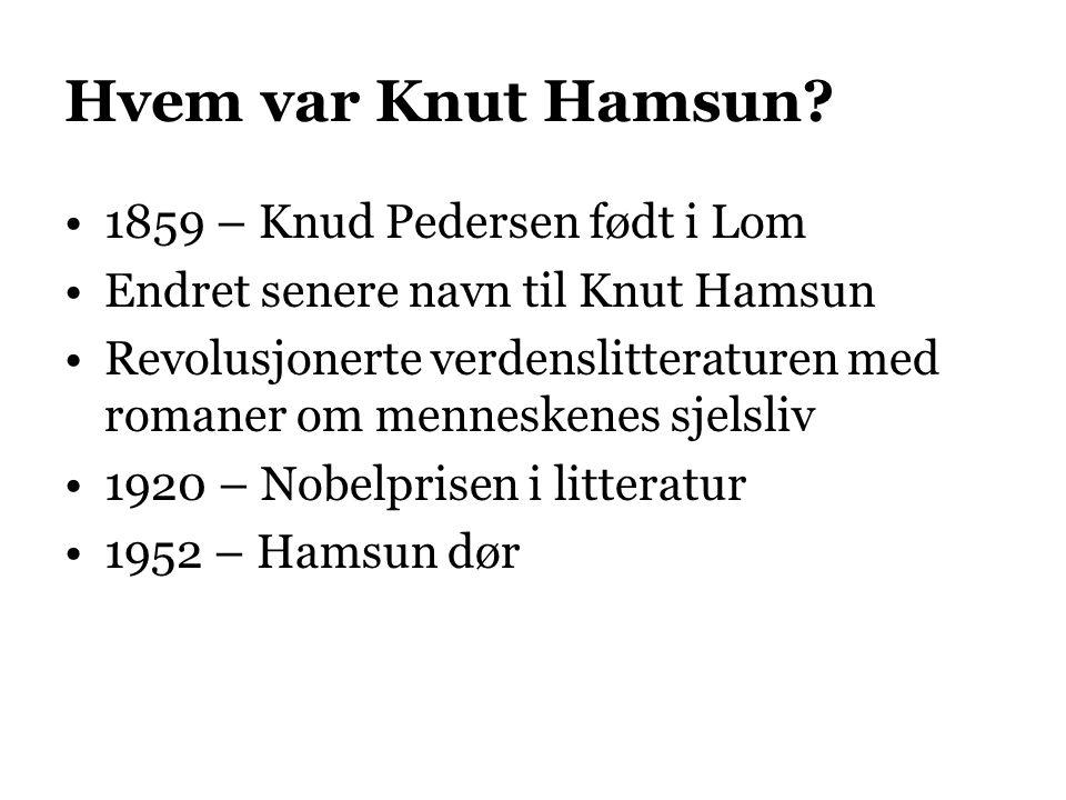 Hvem var Knut Hamsun 1859 – Knud Pedersen født i Lom