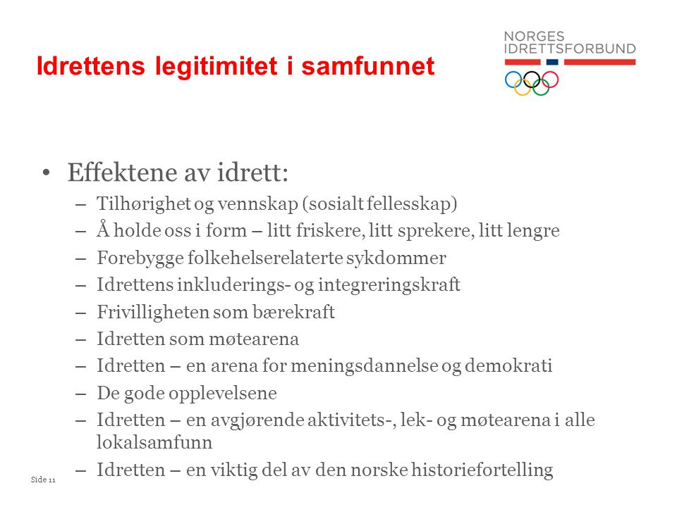 Idrettens legitimitet i samfunnet