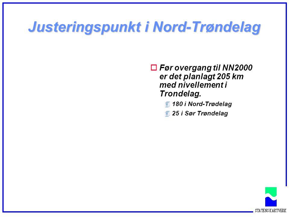 Justeringspunkt i Nord-Trøndelag